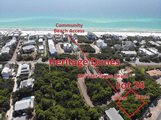 Lot 24 Heritage Dune Lane, Santa Rosa Beach, FL 32459 (MLS #784011) :: Keller Williams Emerald Coast