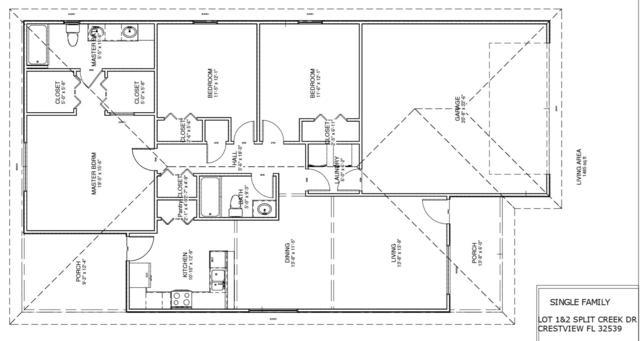 105 Split Creek Drive, Crestview, FL 32539 (MLS #798861) :: Luxury Properties Real Estate