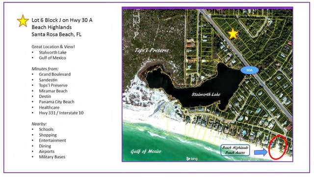 LT 6 BL J W County Hwy 30A, Santa Rosa Beach, FL 32459 (MLS #845756) :: Scenic Sotheby's International Realty