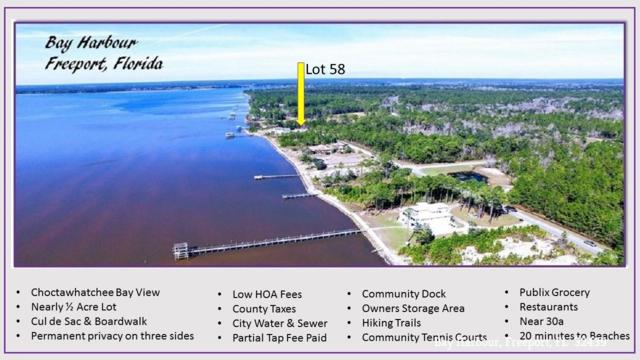58 N Sunset Harbour, Freeport, FL 32439 (MLS #784155) :: RE/MAX By The Sea