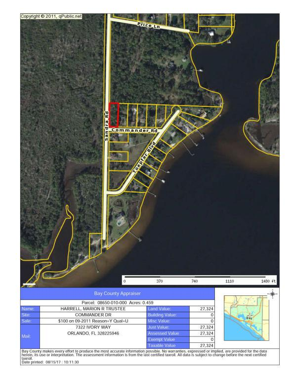 00 Commander Drive, Southport, FL 32409 (MLS #791620) :: Coast Properties