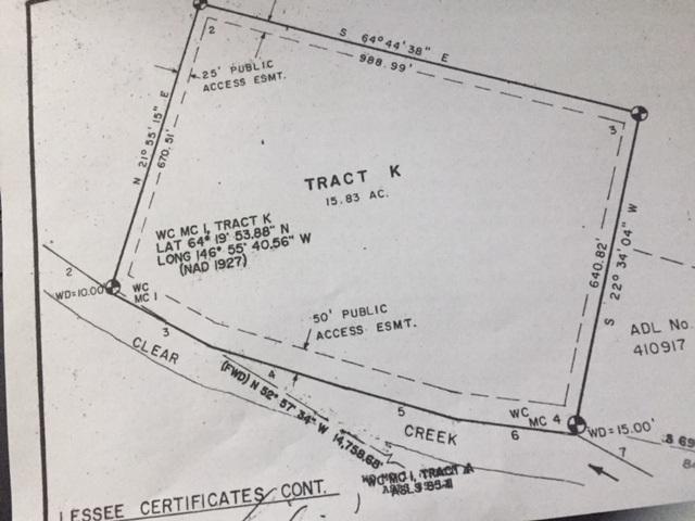 Tract K Clear Creek, Salcha, AK 99714 (MLS #136920) :: Madden Real Estate