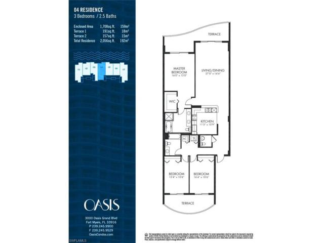 3000 Oasis Grand Blvd #2004, Fort Myers, FL 33916 (MLS #217056551) :: The New Home Spot, Inc.