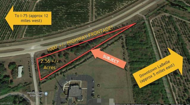 State Road 80 W State Road 80, FORT DENAUD, FL 33935 (MLS #218072852) :: Clausen Properties, Inc.