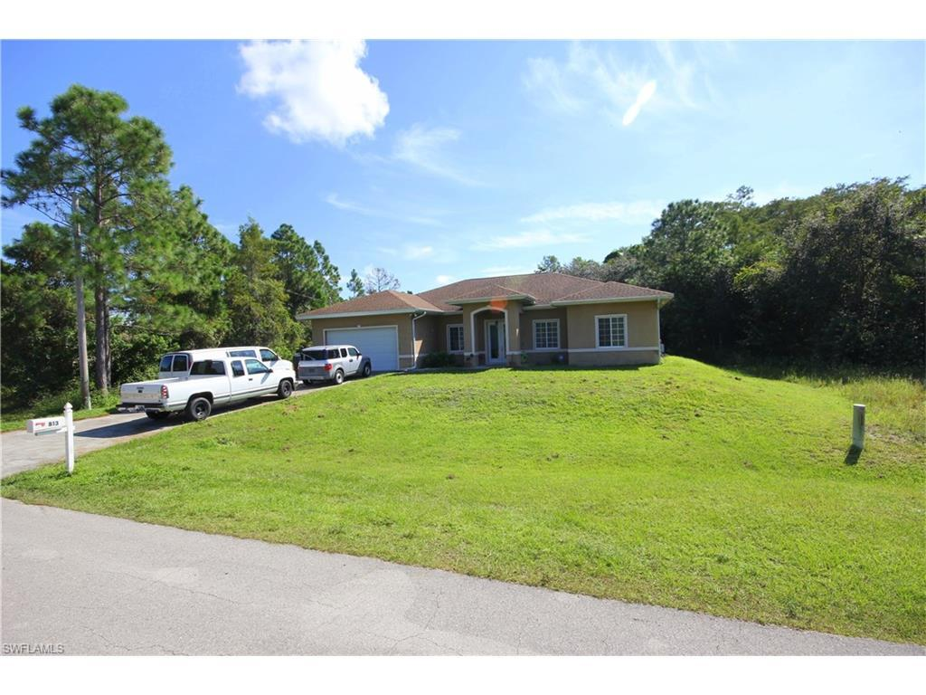 813 Burns Ave S, Lehigh Acres, FL 33974 (MLS #216059809) :: The New Home Spot, Inc.