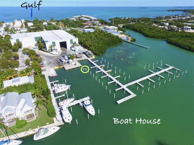 12399 Overseas Highway Slip 31, Marathon, FL 33050 (MLS #578674) :: Jimmy Lane Real Estate Team