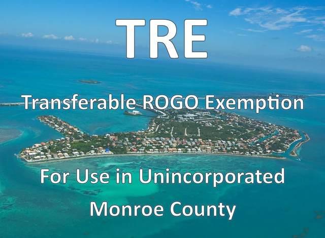 1 Transferable Rogo Exemption, Other, FL 33037 (MLS #596951) :: Jimmy Lane Home Team