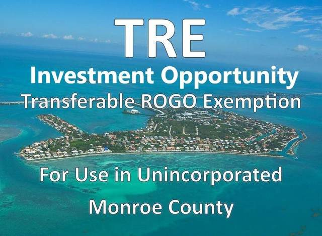 1 Transferable Rogo Exemption, Other, FL 33040 (MLS #597347) :: Key West Vacation Properties & Realty