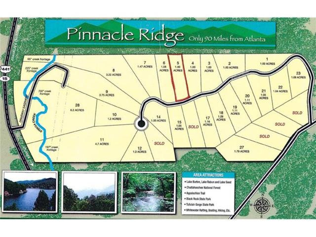 Lot 5 Pinnacle Ridge, Clayton, GA 30525 (MLS #5691986) :: The Zac Team @ RE/MAX Metro Atlanta