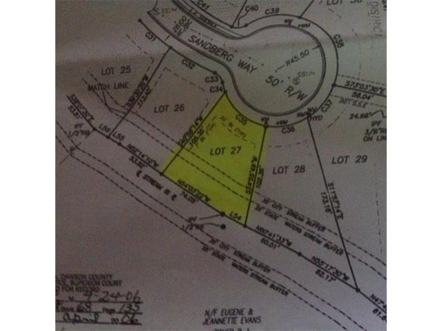 Lot 27 Sandberg Way, Dawsonville, GA 30534 (MLS #5868502) :: North Atlanta Home Team