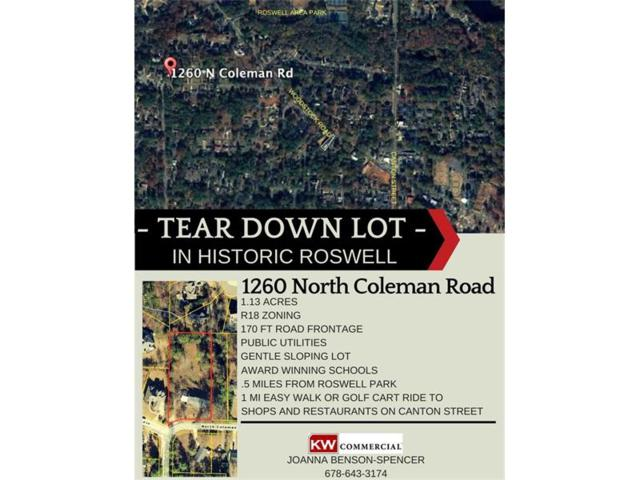 1260 N Coleman Road, Roswell, GA 30075 (MLS #5869753) :: North Atlanta Home Team