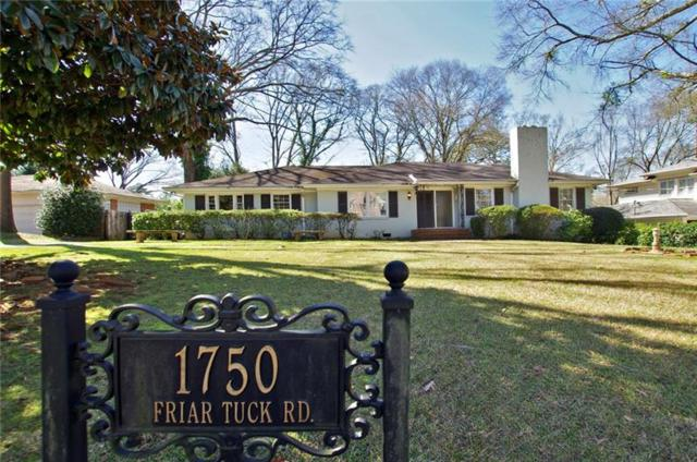 1750 Friar Tuck Road NE, Atlanta, GA 30309 (MLS #5970404) :: North Atlanta Home Team