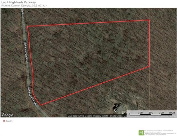 Lot 4 Highlands Parkway, Jasper, GA 30143 (MLS #6047088) :: Iconic Living Real Estate Professionals