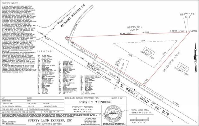 1445 W Wesley Road NW, Atlanta, GA 30327 (MLS #6568550) :: RE/MAX Prestige