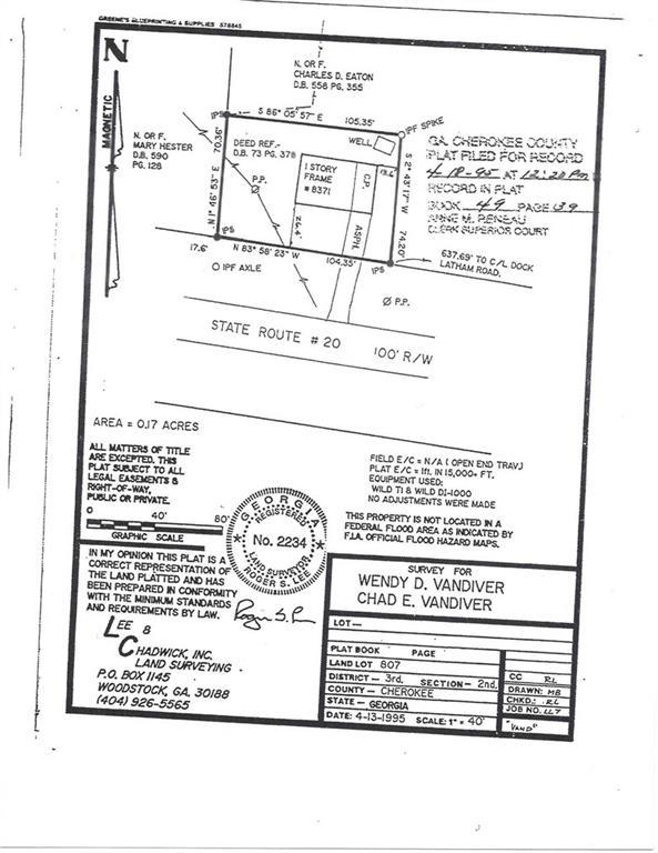 8371 Cumming Highway, Canton, GA 30115 (MLS #6101255) :: Hollingsworth & Company Real Estate