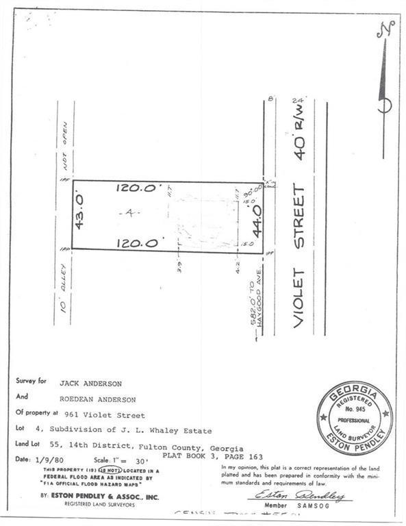 0 Violet Street SE, Atlanta, GA 30315 (MLS #6121563) :: North Atlanta Home Team
