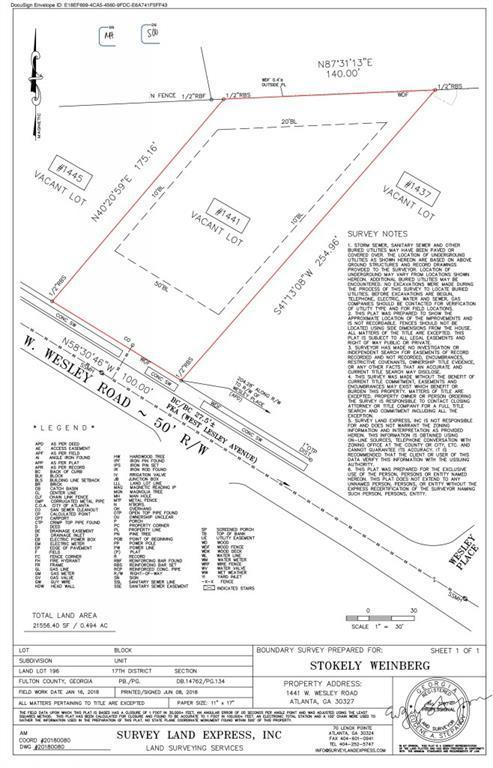 1441 W Wesley Road NW, Atlanta, GA 30327 (MLS #6568553) :: RE/MAX Prestige