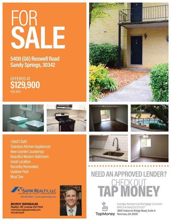 5400 Roswell Road G6, Atlanta, GA 30342 (MLS #6608603) :: North Atlanta Home Team