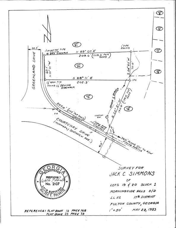 0 Courtenay Drive NE, Atlanta, GA 30306 (MLS #6922354) :: The Hinsons - Mike Hinson & Harriet Hinson