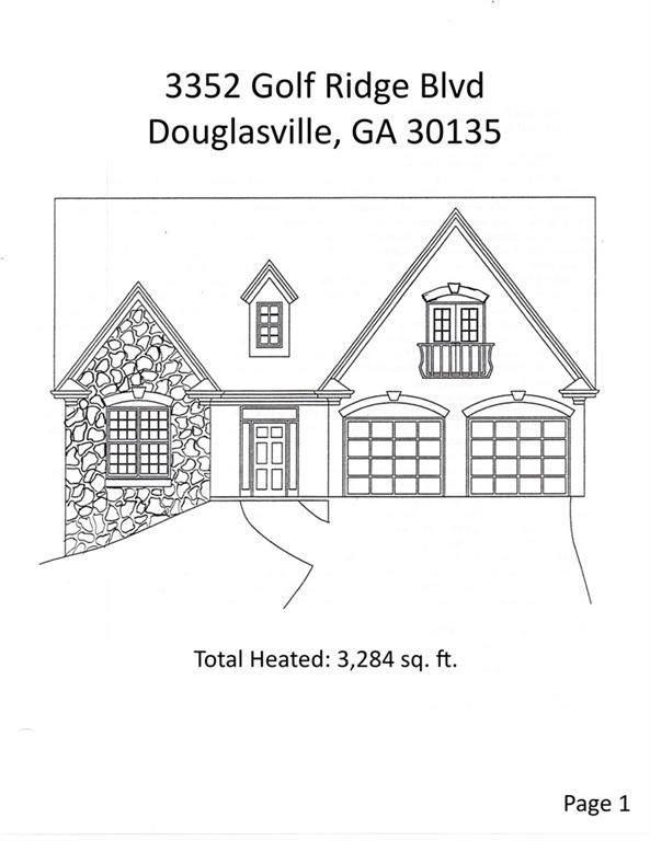 3352 Golf Ridge Boulevard, Douglasville, GA 30135 (MLS #6638371) :: North Atlanta Home Team