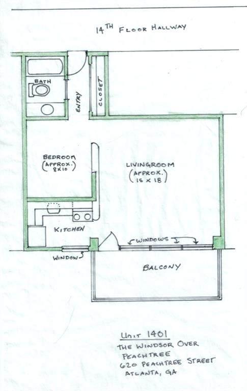 620 Peachtree Street NE #1401, Atlanta, GA 30308 (MLS #6800314) :: The North Georgia Group