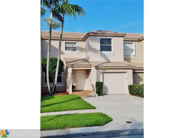 1261 NW 154th Ave #1261, Pembroke Pines, FL 33028 (MLS #F10072516) :: Green Realty Properties