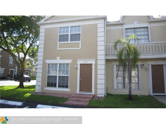 2860 S Edgehill Ln #2860, Cooper City, FL 33026 (MLS #F10082688) :: Green Realty Properties