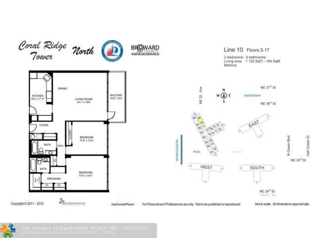 3200 NE 36th St #1010, Fort Lauderdale, FL 33308 (MLS #F10085594) :: Green Realty Properties
