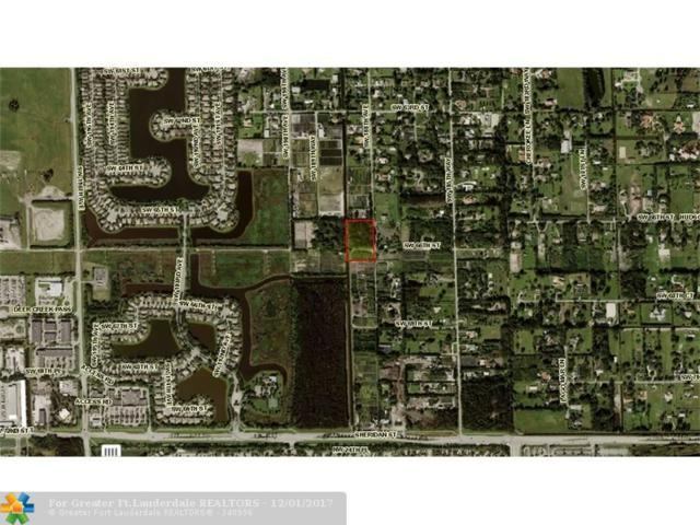 18800 SW 66 ST, Southwest Ranches, FL 33332 (MLS #F10096309) :: Green Realty Properties