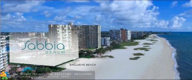 730 N Ocean Blvd #904, Pompano Beach, FL 33062 (MLS #F10117692) :: Green Realty Properties