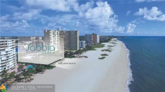730 N Ocean Blv #601, Pompano Beach, FL 33062 (MLS #F10123083) :: Green Realty Properties