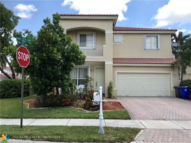 7743 NW 21st Dr, Pembroke Pines, FL 33024 (MLS #F10126693) :: Green Realty Properties