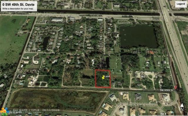 0 SW 49th St, Davie, FL 33314 (MLS #F10126960) :: Green Realty Properties