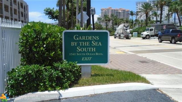 1541 S Ocean Blvd #416, Pompano Beach, FL 33062 (MLS #F10128140) :: Green Realty Properties
