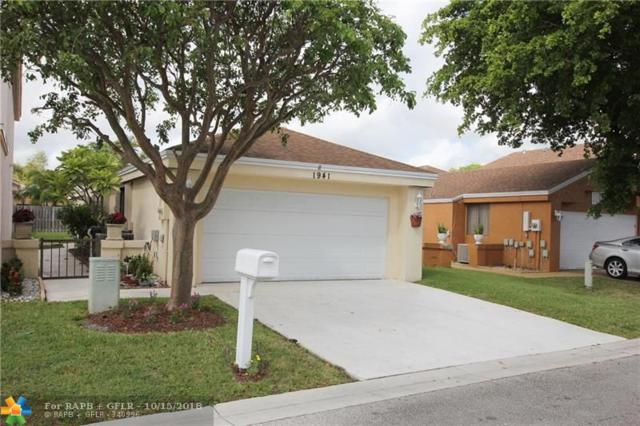 1941 NW 35th Ave, Coconut Creek, FL 33066 (MLS #F10145604) :: Green Realty Properties