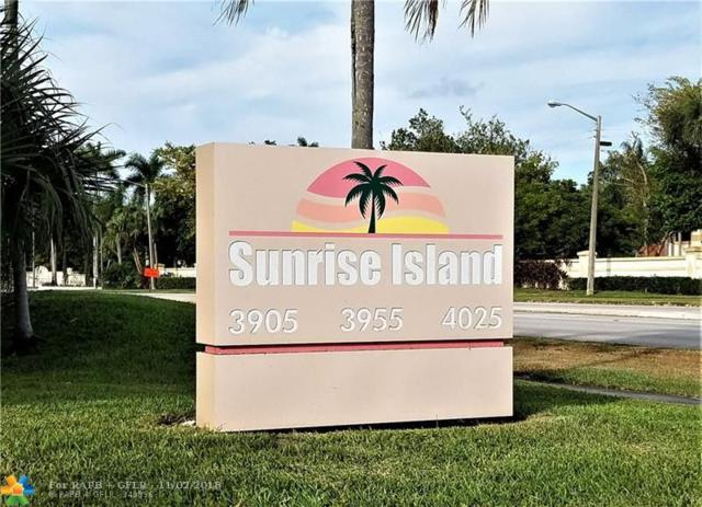 3955 N Nob Hill Rd #110, Sunrise, FL 33351 (MLS #F10148153) :: Green Realty Properties