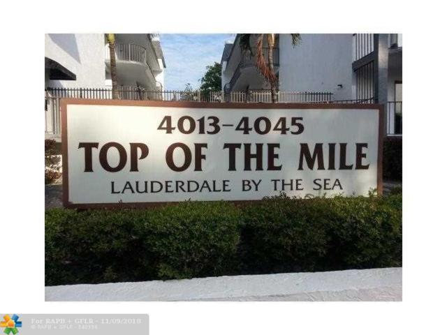 4013 N Ocean Dr #116, Lauderdale By The Sea, FL 33308 (MLS #F10149414) :: Green Realty Properties