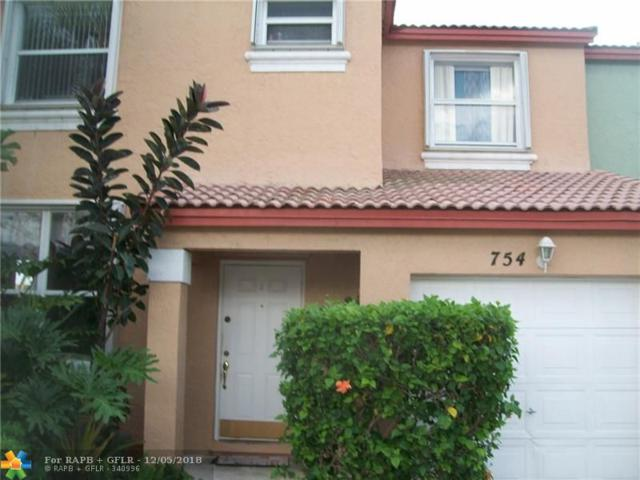 754 NW 154th Ave #754, Pembroke Pines, FL 33028 (MLS #F10152797) :: Green Realty Properties