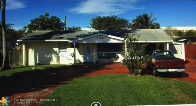 2165 SW 47th St, Fort Lauderdale, FL 33312 (MLS #F10162786) :: Castelli Real Estate Services