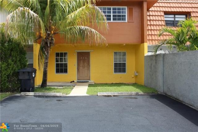 920 SW 74th Ave #920, North Lauderdale, FL 33068 (MLS #F10170316) :: The O'Flaherty Team