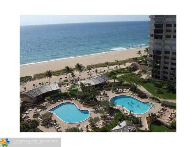 4900 N Ocean Bvd Unit 1202, Lauderdale By The Sea, FL 33308 (MLS #F10176655) :: The Howland Group