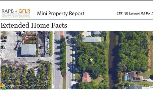 2191 SE Lennard Road, Port Saint Lucie, FL 34952 (MLS #F10181821) :: Green Realty Properties