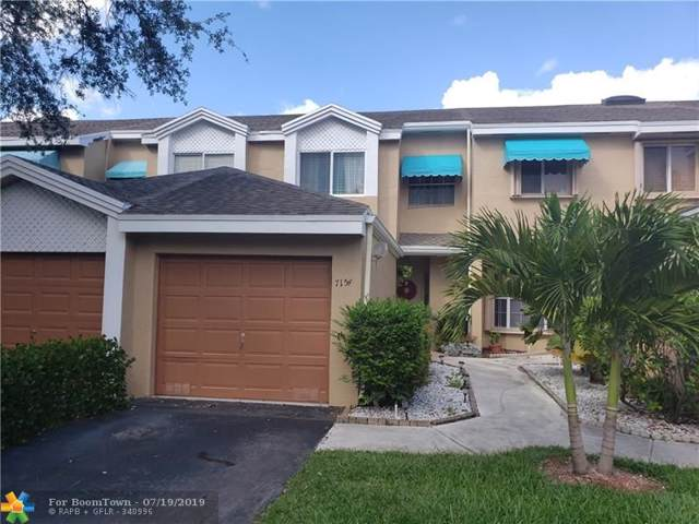 7154 Woodmont Way #7154, Tamarac, FL 33321 (MLS #F10185802) :: United Realty Group