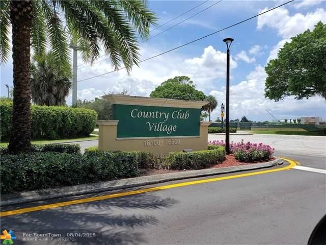 16325 Golf Club Rd #112, Weston, FL 33326 (MLS #F10187767) :: Berkshire Hathaway HomeServices EWM Realty
