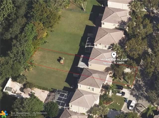 502 NW 87th Ln, Coral Springs, FL 33071 (MLS #F10213764) :: Green Realty Properties
