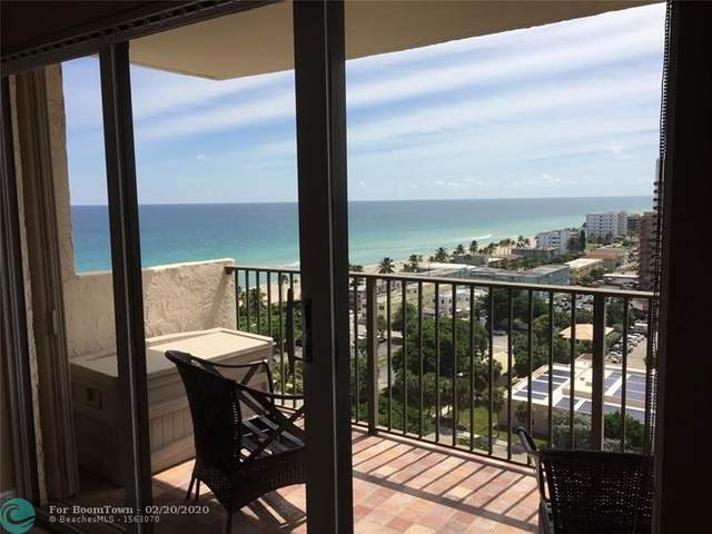 1201 S Ocean Dr 1610S, Hollywood, FL 33019 (MLS #F10217481) :: Berkshire Hathaway HomeServices EWM Realty