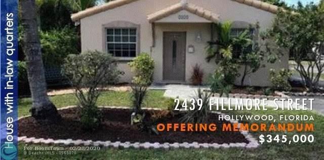 2439 Fillmore St, Hollywood, FL 33020 (MLS #F10219308) :: Berkshire Hathaway HomeServices EWM Realty