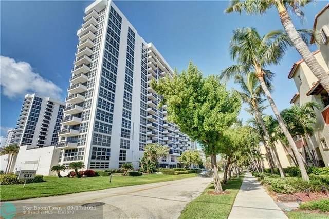 531 N Ocean Blvd #505, Pompano Beach, FL 33062 (MLS #F10302350) :: Adam Docktor Group