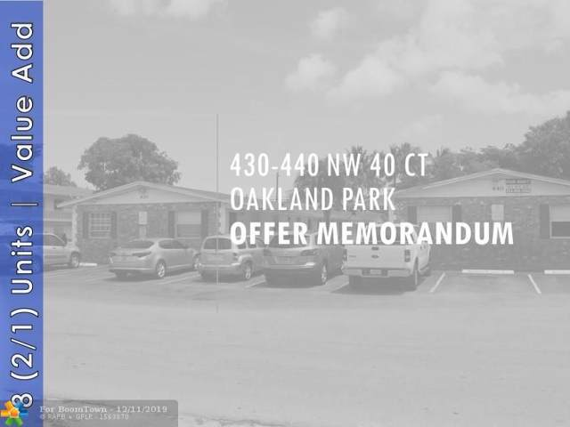 430-440 NW 40th Ct, Oakland Park, FL 33309 (MLS #H10737830) :: RE/MAX