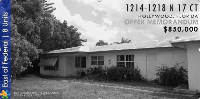 1214-1218 N 17th Ct, Hollywood, FL 33020 (MLS #H10758469) :: The Paiz Group